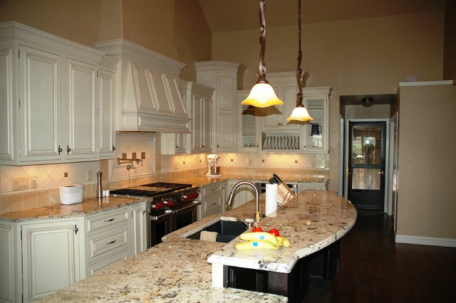 White Perimeter Cabinets traditional-kitchen