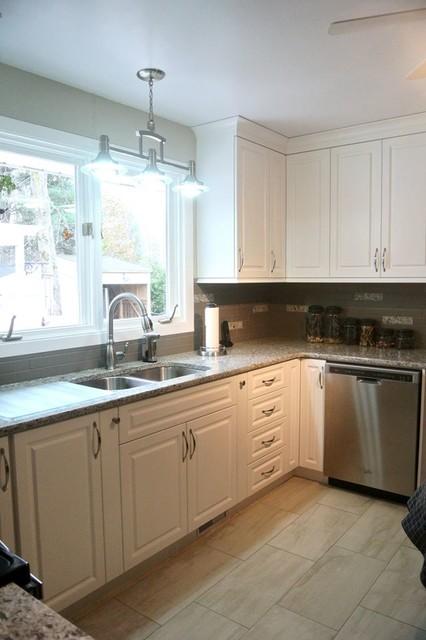 White Perth Kitchen transitional-kitchen