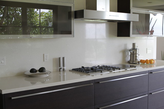 white quartz contemporary kitchen santa barbara by