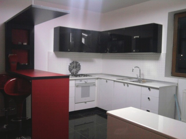 white red black kitchen modern kitchen