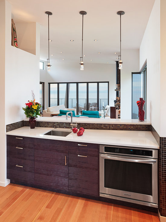 White Rock 3 - The 'wedge' shaped lower countertop provides extra depth for food preparation. (Gary Beale, photographer)