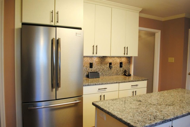 "White ""Rohe"" Cabinets, Stainless Appliances - Kitchen - other metro - by Hatchett Design/Remodel"