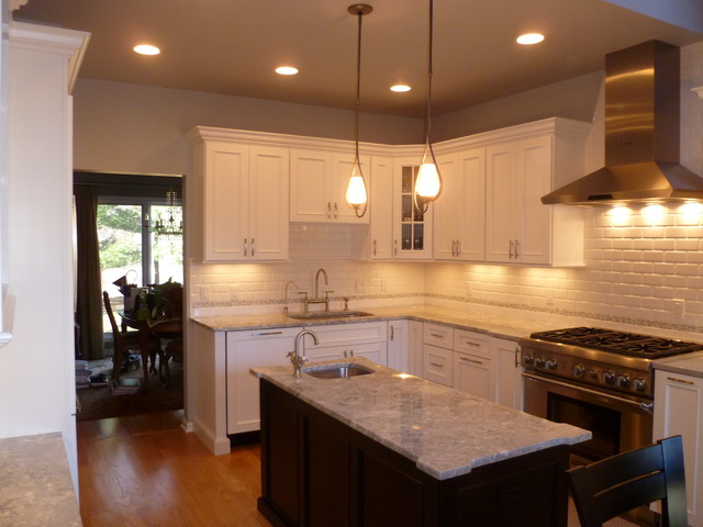White Shaker Cabinets traditional-kitchen