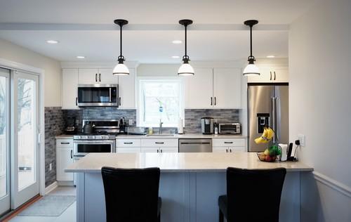 Kitchen featuring quartz countertops