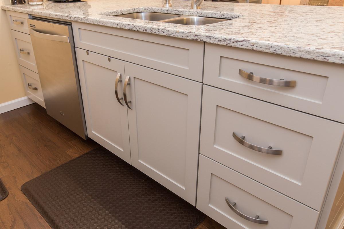 White Shaker Style Cabinet Houzz