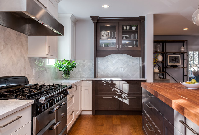 White Shaker Style Kitchen Renovation Project Denver