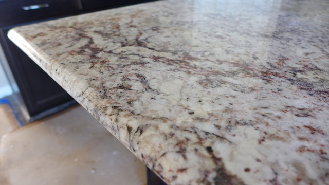 White Springs Granite Kitchen Modern Salt