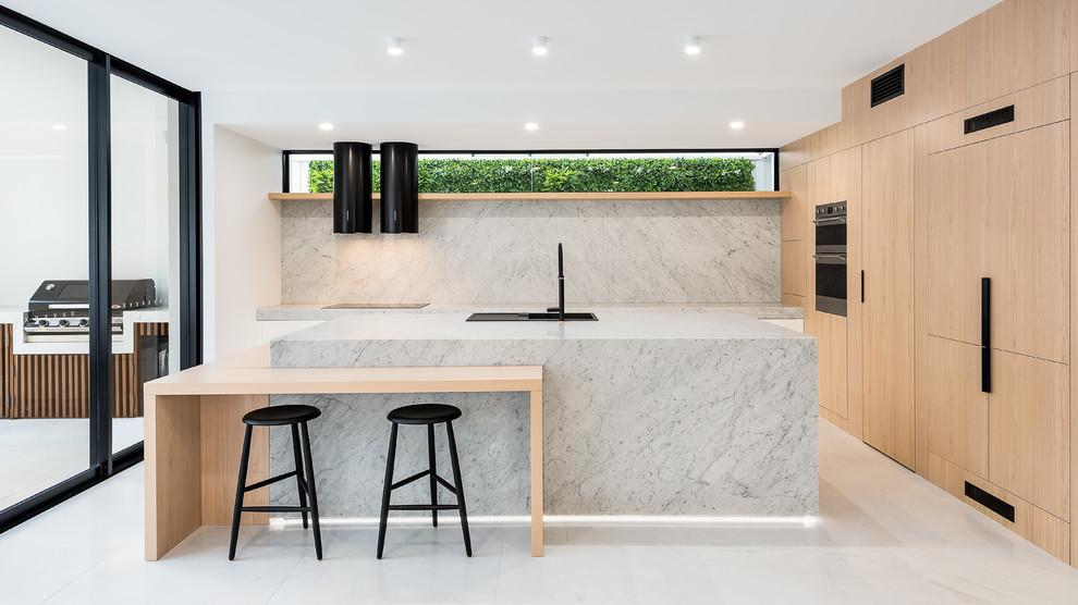 White Stone Modern Kitchen
