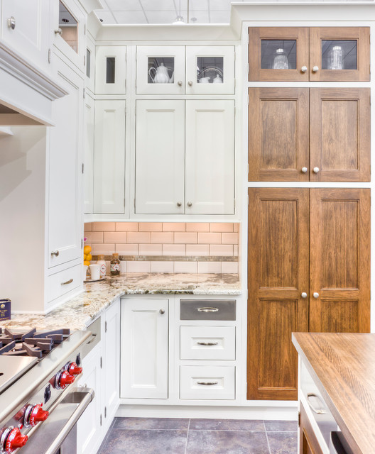 White Transitional Inset Kitchen traditional-kitchen