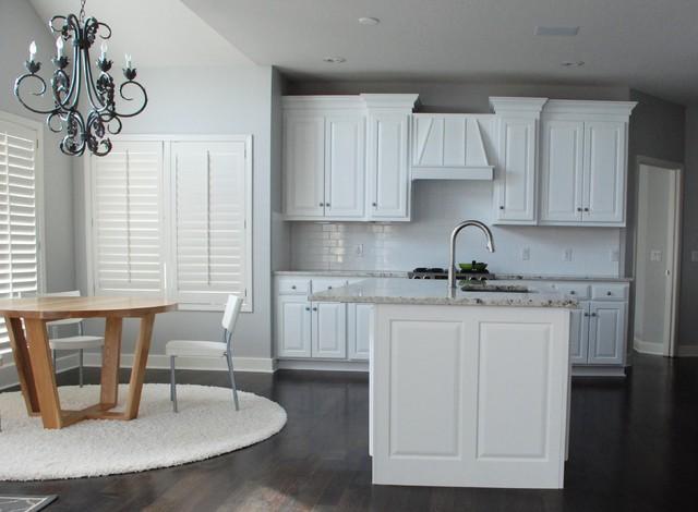 White Transitional Kitchen traditional-kitchen