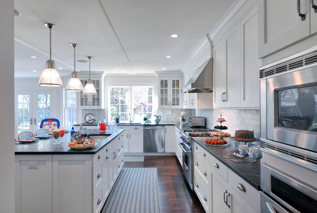 White Transitional Kitchen, East Hills, NY traditional-kitchen