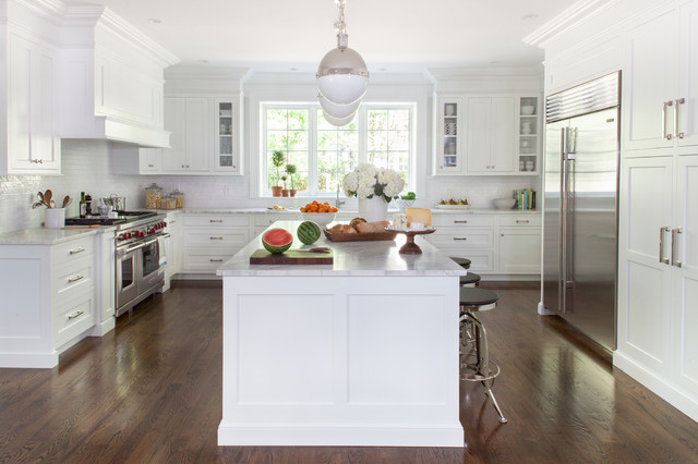 White transitional kitchen transitional kitchen new for Transitional kitchen designs photo gallery
