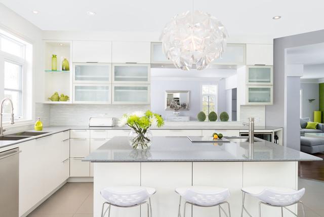 White velvet laquer amp quartz counter top Contemporary  : contemporary kitchen from www.houzz.com size 640 x 428 jpeg 57kB