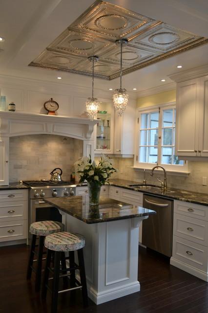 White Victorian Kitchen traditional-kitchen