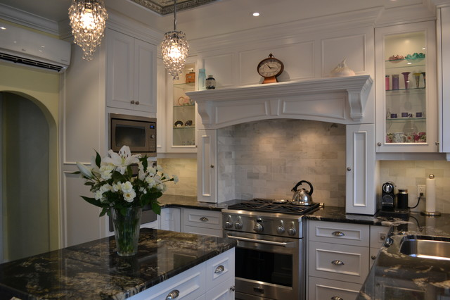White Victorian Kitchen Traditional Toronto