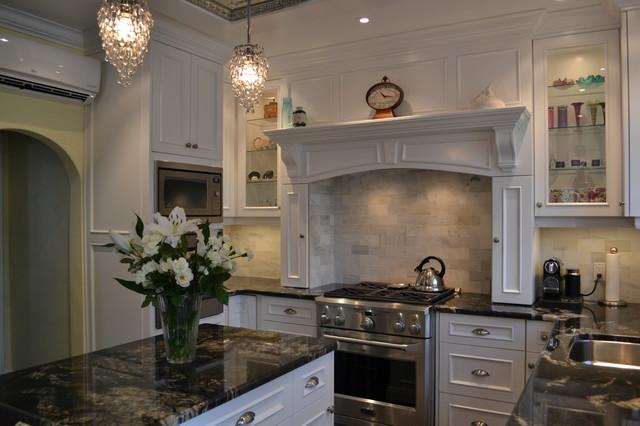 White Victorian Kitchentraditional Kitchen Toronto