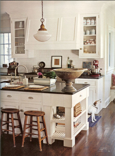 White  w/Black traditional-kitchen