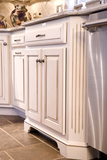 White with rosewood in NJ traditional-kitchen