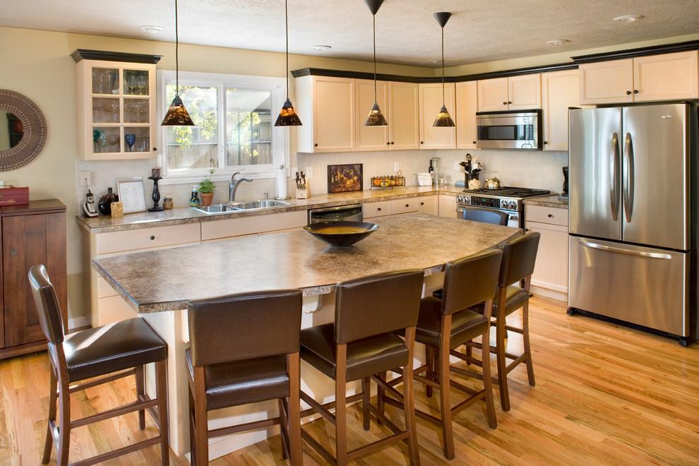 Whitewashed Cabinets Traditional, White Washing Laminate Cabinets