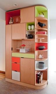 Whitmer kitchen modern kitchen seattle by kerf design for Modern kitchen cabinets seattle