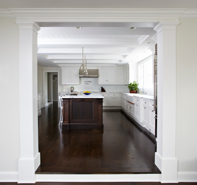 Kitchen Classical Colonial Kitchen Design With Island For: Re-do Center Hall Colonial