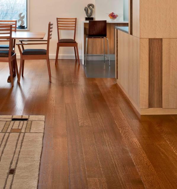 Wide Plank Oak Flooring Craftsman Kitchen