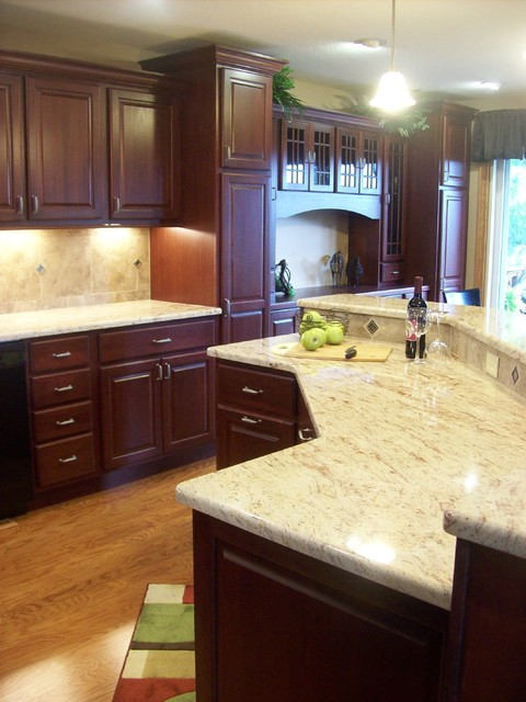 Wild Cherry Traditional Kitchen Chicago By West Side Lumber Ace Kitchen Bath Design Center