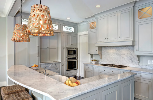 Kitchen Cabinets Ideas gray kitchen cabinets benjamin moore : Remodelaholic | Trends in Cabinet Paint Colors