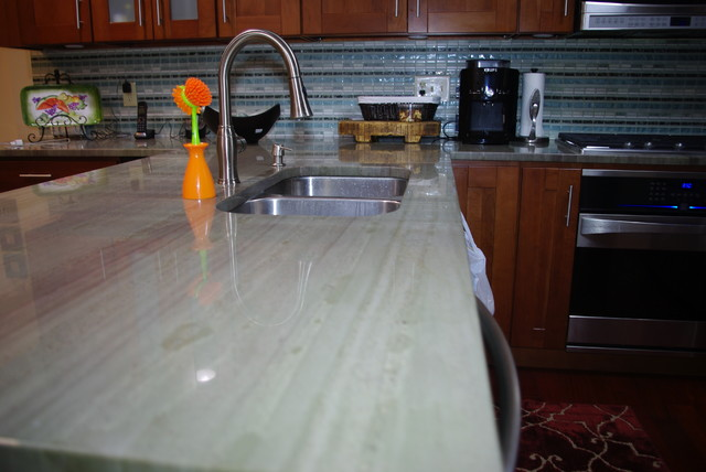 Wild Sea Green Granite  Contemporary  Kitchen  other metro  by