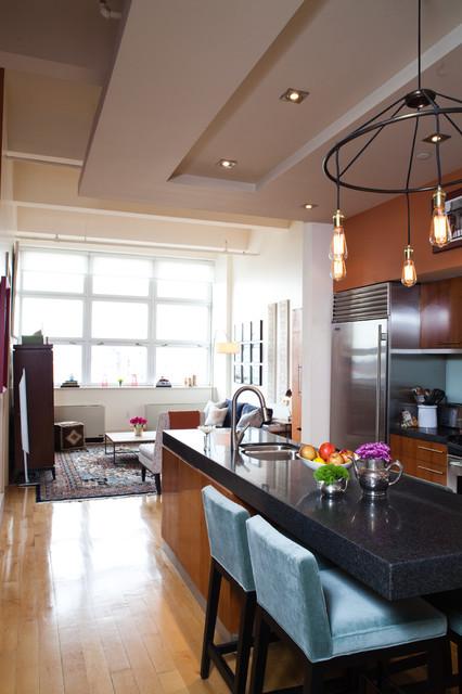 Williamsburg brooklyn loft eclectic kitchen new york by deakins design group - Kitchen design brooklyn ...