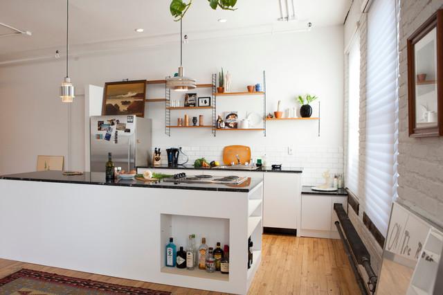 williamsburg retro loft modern kitchen new york by