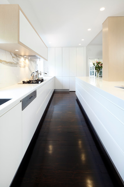 modern white kitchen dark floor willoughby modern kitchen sydney by of 140