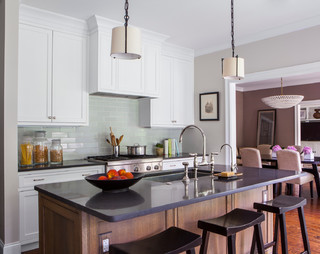 Wilmette family home transitional kitchen chicago for A b mackie salon