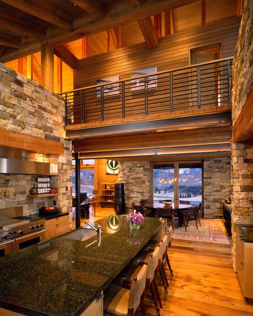 Wilson mountain residence rustic kitchen other metro for Mountain kitchen designs