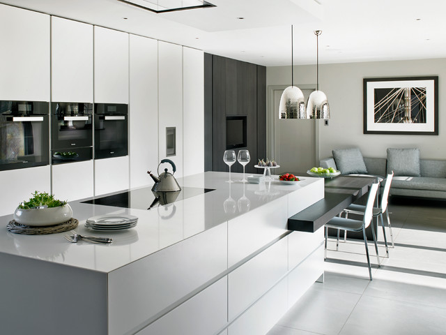 Wimbledon Bespoke Contemporary Kitchen Contemporary Kitchen London By Brayer Design