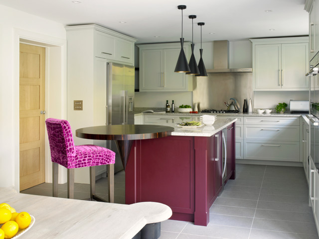 Wimbledon Contemporary Shaker Kitchen Contemporary Kitchen London By Brayer Design