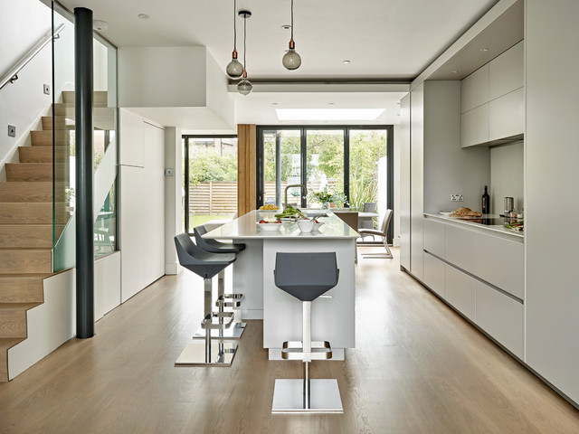 Wimbledon Grey Kitchen Contemporary Kitchen Surrey By Brayer Design