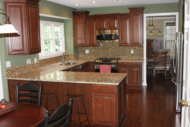 ... Cherry Chocolate Glaze By Shenandoah Cabinetry traditional-kitchen