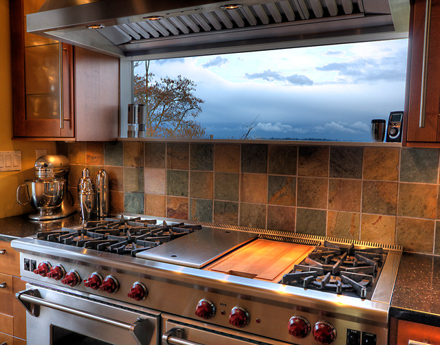 Window Over Range Eclectic Kitchen Seattle By