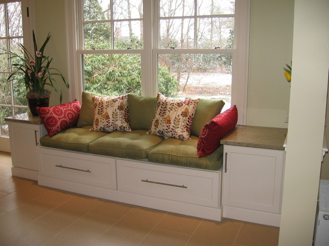 ... Drawers Family Room Window Seat Filing Drawer Eclectic Kitchen Designs
