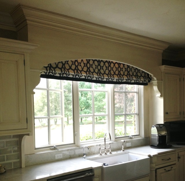 Window Treatments Roman Shades Traditional Kitchen Chicago By Window Dressings