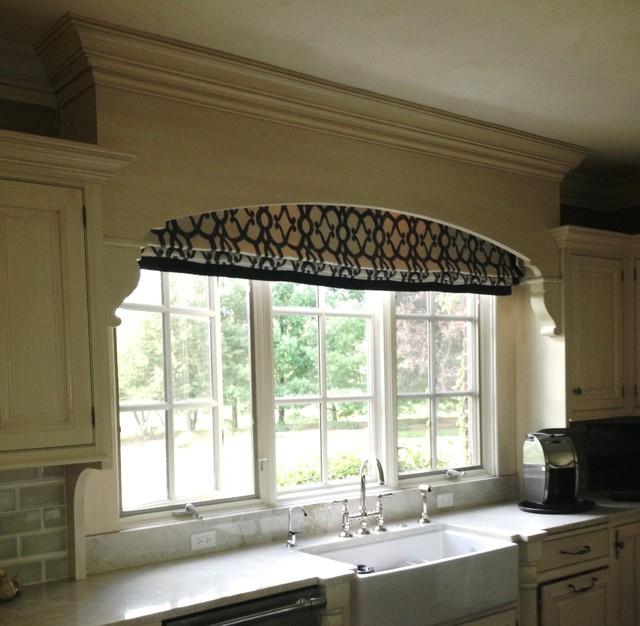 Window Treatments Roman Shades Traditional Kitchen