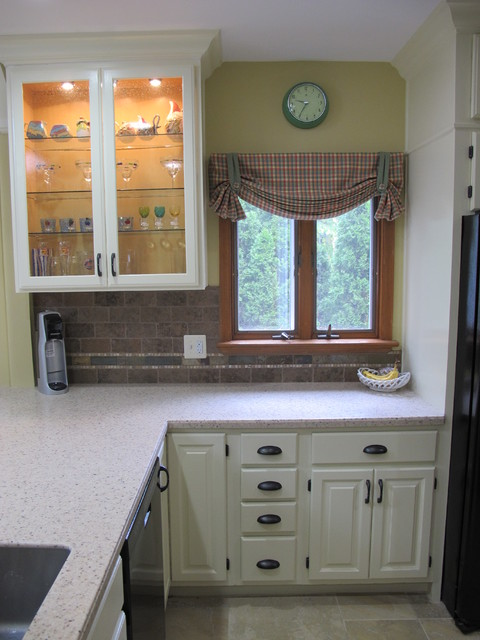 Window treats for a redone kitchen traditional-kitchen