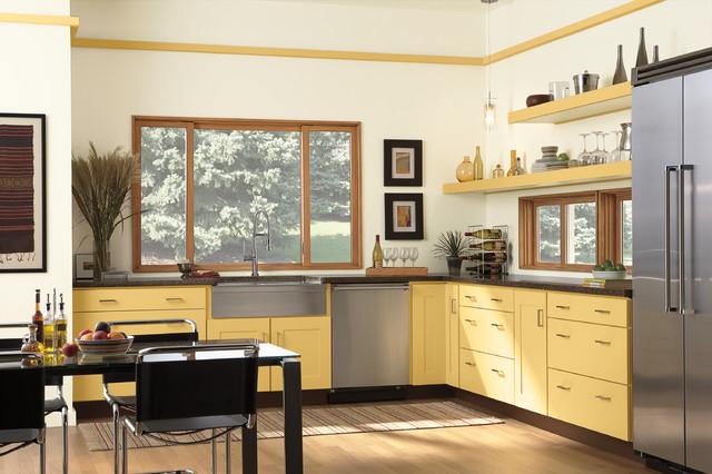 Windows doors modern kitchen minneapolis by lindus construction midwest leafguard - Modern kitchen windows ...