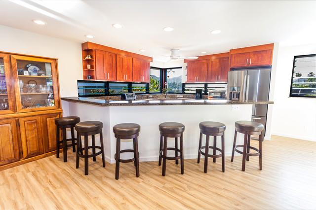 Windward Home Renovation Transitional Kitchen hawaii