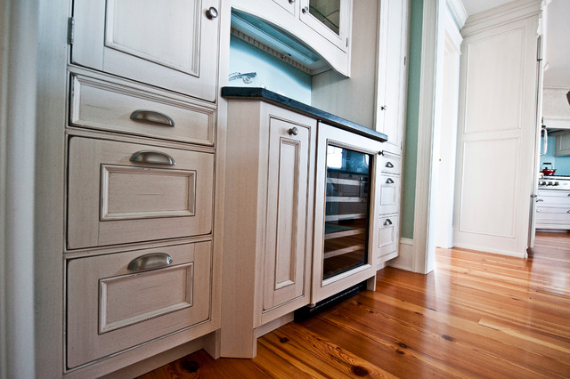 Wine Cooler And Wood-Mode Cabinets - Traditional - Kitchen - New ...