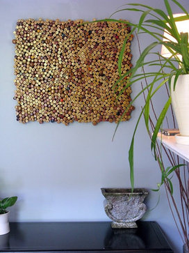wine cork art eclectic kitchen