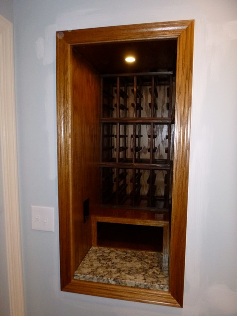 Wine Cubby over stairwell wasted space - Craftsman - Kitchen - Other - by Beverly Thomas LLC