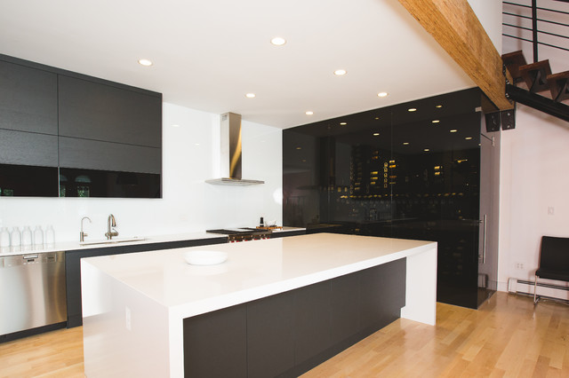 Wine display beauty, ultra modern kitchen - Contemporary ...