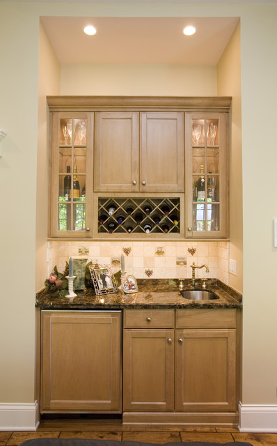 Wine Rack and Sink traditional kitchen